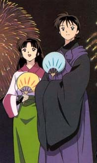 Miroku and his woman...